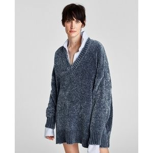 Zara Oversized Chenille Sweater